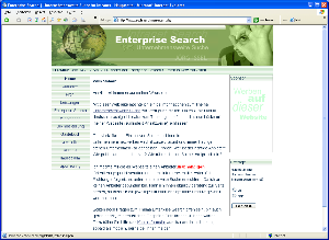 Deutschsprachige Webseite zum Thema Enterprise Search