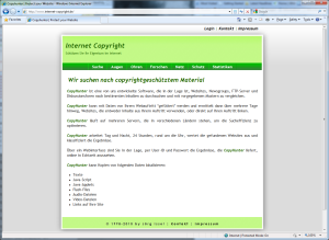 German Website for Copyright protection in the Internet